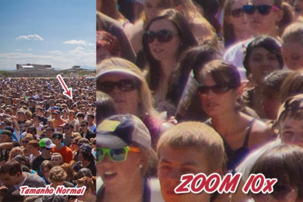Binóculo ZoomCam tem câmera digital e zoom de 10x!