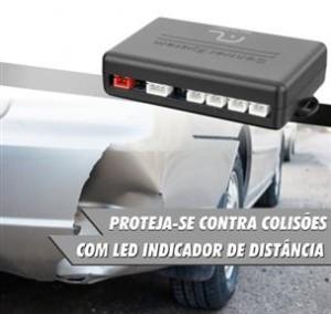 Sensor de Estacionamento 4 Pontos com Alarme Sonoro